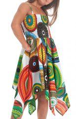 Robe d'été pour Fille Originale et Asymétrique Pégase Mandalas Multi 280439