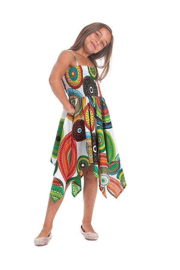 Robe d'été pour Fille Originale et Asymétrique Pégase Mandalas Multi 280440