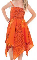 Robe d'été pour Fille Originale et Asymétrique Pégase Orange 280472