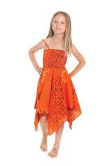 Robe d'été pour Fille Originale et Asymétrique Pégase Orange 280475