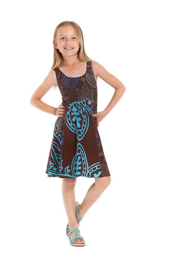 Robe d'été pour Fille Pas chère et colorée Marron Nala 280143