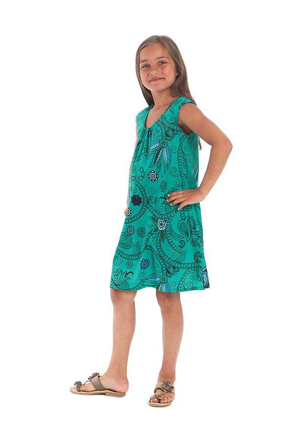 Robe d'été Prissy pour enfant Originale et Colorée Verte 279878