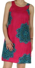 Robe d'été Rose Originale et Colorée sans manches Alba 297099