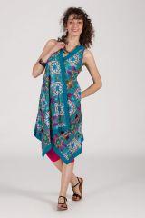 robe d'été sans manche asymétrique col V Irena 288228