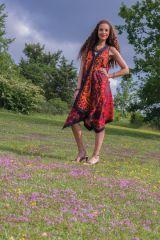 Robe d'été sans manches Orange Asymétrique et Originale Paule 281942