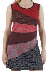 Robe d'été sans manches type patchwork et colorée Yana 311345