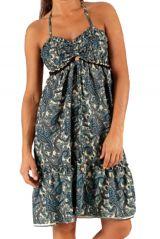 Robe d'été très agréable Ethnique à motifs Batiks Adrika Bleu Clair 283307