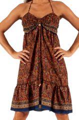 Robe d'été très agréable Ethnique à motifs Batiks Adrika Rouille 283295