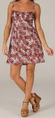 Robe d'été très Féminine et Originale Salomé Bordeaux 279429