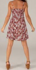 Robe d'été très Féminine et Originale Salomé Bordeaux 279430