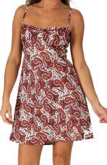 Robe d'été très Féminine et Originale Salomé Bordeaux 284102