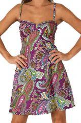 Robe d'été très Féminine et Originale Salomé Violette 284103