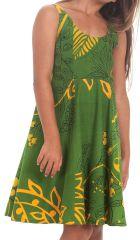 Robe d'été Verte pour Fille Colorée et Pas chère Nala 280138
