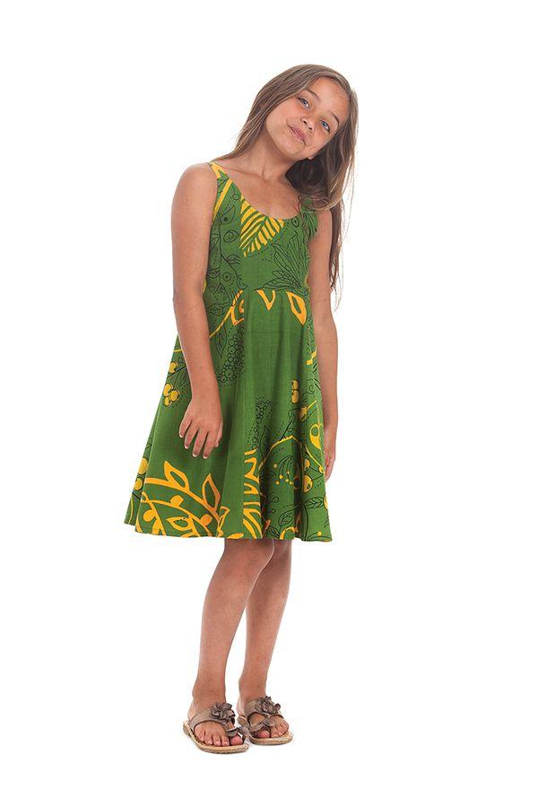 Robe d'été Verte pour Fille Colorée et Pas chère Nala 280139