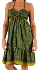 Robe d'été Verte très agréable Ethnique à motifs Batiks Adrika 283298