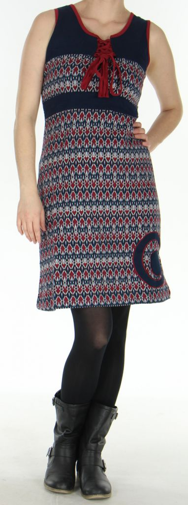 Robe d'hiver à larges bretelles Originale et Colorée Christel 278744