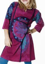 Robe d'hiver colorée et imprimée pour fille 287306