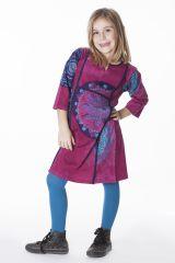 Robe d'hiver colorée et imprimée pour fille 287307