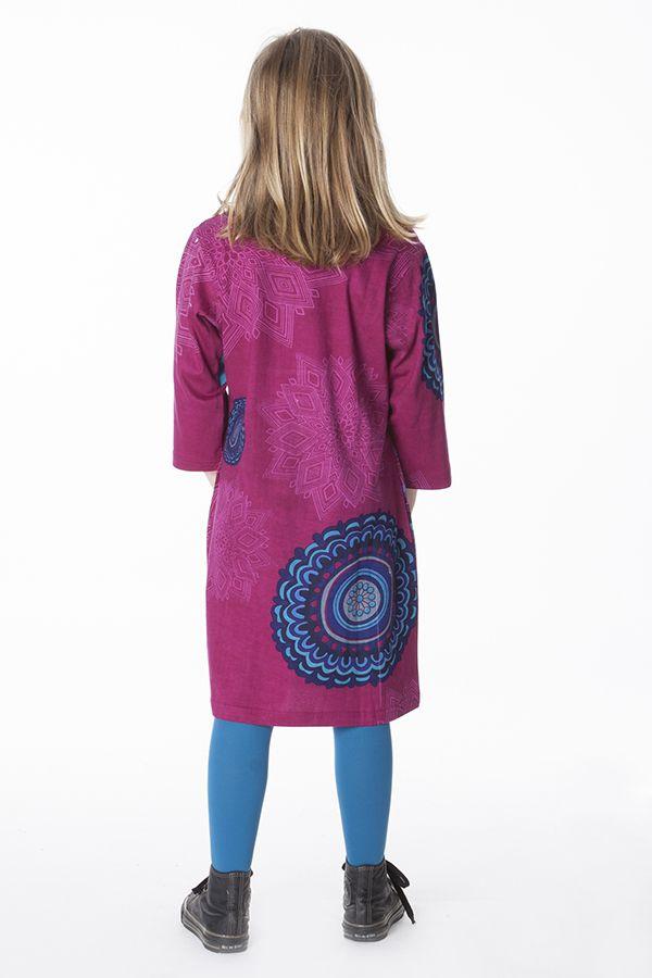 Robe d'hiver colorée et imprimée pour fille 287308