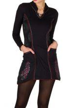 Robe d'hiver courte à manches longues tendance et col mao Parisio 298621