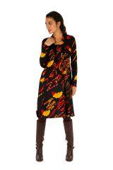 Robe d'hiver ethnique colorée et ultra féminine Kumasi 312722