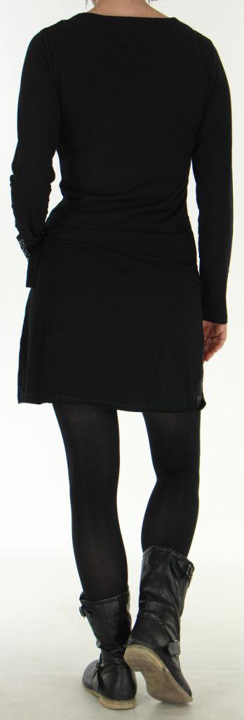 Robe d'hiver Ethnique et Originale transformable Asymia Noire 277933