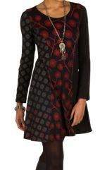 Robe d'hiver fantaisie en coton à manches longues pas cher Morty 298669