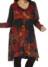 Robe d'hiver grande taille très féminine et ethnique Biskra 313464