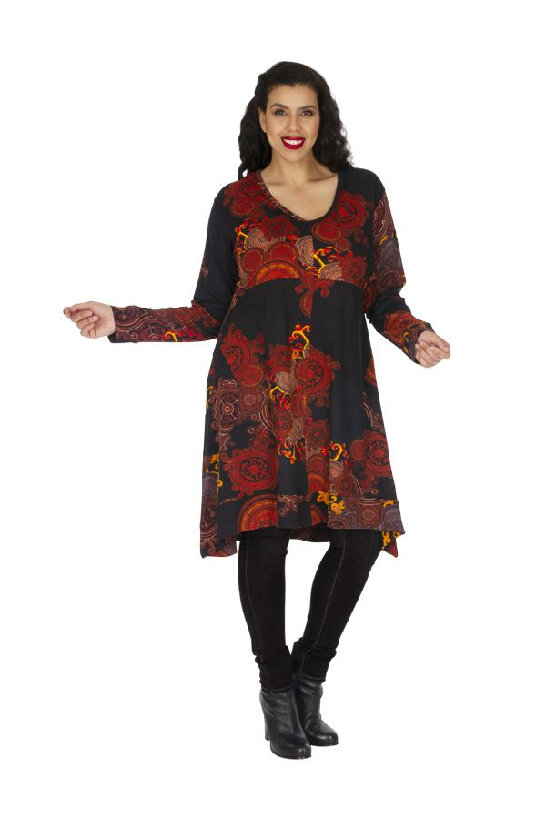 Robe d'hiver grande taille très féminine et ethnique Biskra 313465
