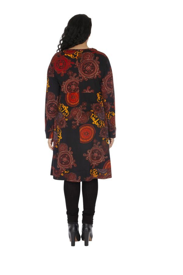 Robe d'hiver grande taille très féminine et ethnique Biskra 313466