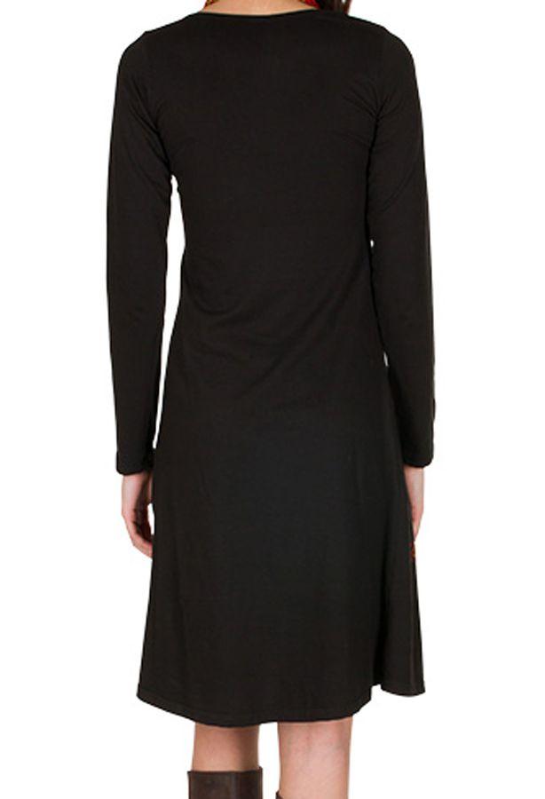 Robe d'hiver longue avec imprimés fanaisies Fuchsia Oriany 298792