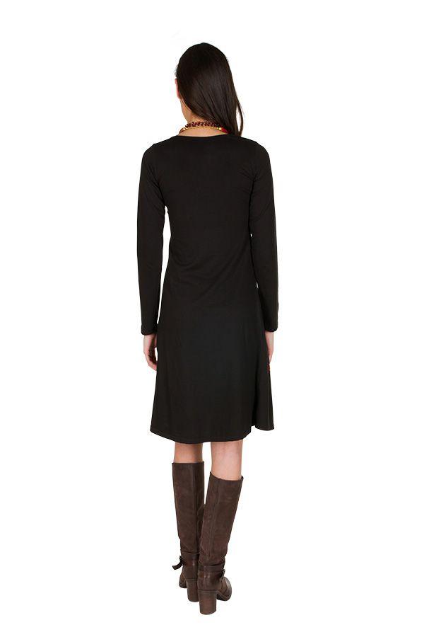 Robe d'hiver longue avec imprimés fanaisies Fuchsia Oriany 298793