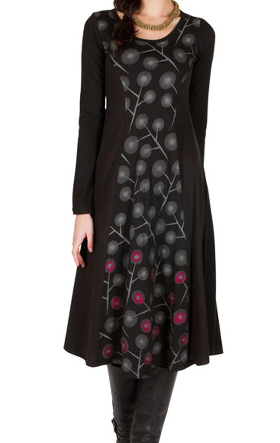Robe D Hiver Longue En Coton A Manches Longues Et Glamour Hallana