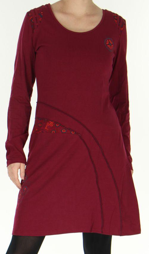 robe d hiver mi longue originale et ethnique dona framboise. Black Bedroom Furniture Sets. Home Design Ideas