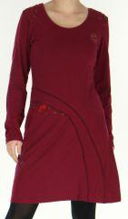 Robe d'hiver mi-longue Originale et Ethnique Dona Framboise 278832