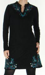 Robe d'hiver Originale à l'esprit Tribal Marielle Noire 278770