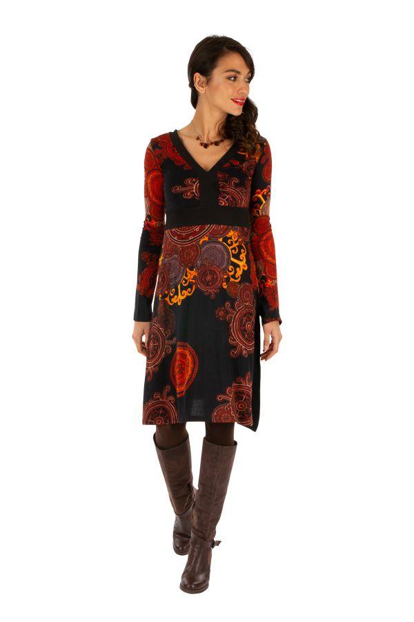 Robe d'hiver originale aux couleurs flamboyantes Nikki 312728