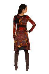 Robe d'hiver originale aux couleurs flamboyantes Nikki 312729