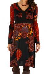 Robe d'hiver originale aux couleurs flamboyantes Nikki 312730