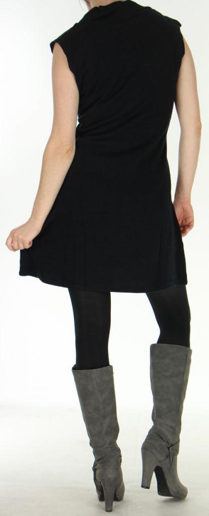 Robe d'hiver sans manches Ethnique et Originale Maryline Noire 278736