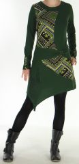 Robe d'hiver transformable Ethnique et Originale Asymia Kaki 277924