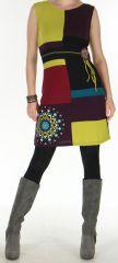 Robe d'Hiver Très Originale et Colorée sans manches  Sevane Mauve 276089