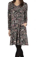 Robe de collection hiver à imprimé bohème et féminin Daisy