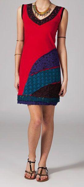 Robe de détente rouge Ophélie 269034