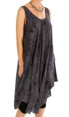 Robe de plage asymétrique avec un imprimé de rosaces Evie 306205