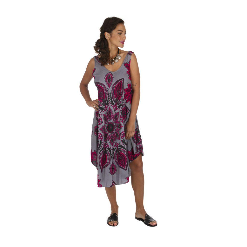 Robe de plage avec un imprimé effet mandala tendance Katsy 317001