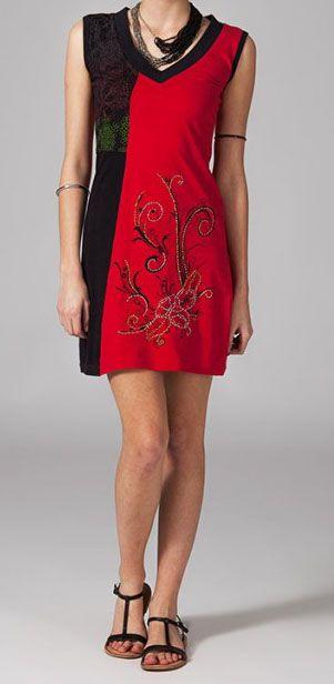 Robe de plage bohème chic rouge Ilanna 269127