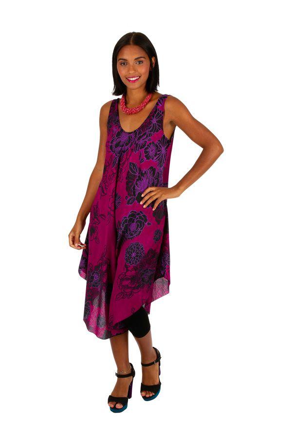 Robe de plage colorée coupe ample sans manche Lola 306188