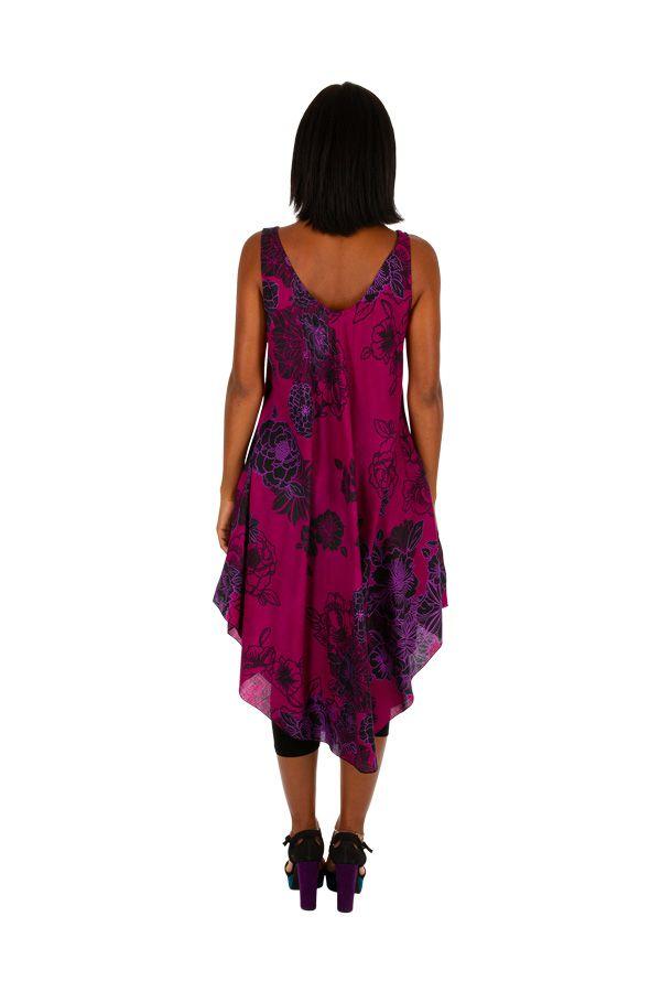 Robe de plage colorée coupe ample sans manche Lola 306189