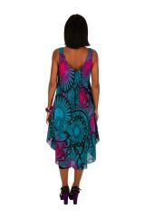 Robe de plage coupe asymétrique avec un imprimé exotique Olga